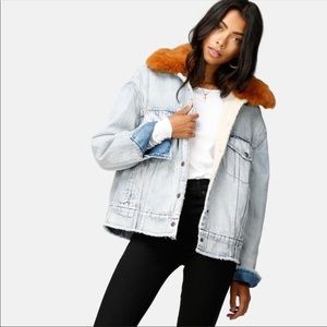 Levis Oversized Sherpa Trucker Jacket